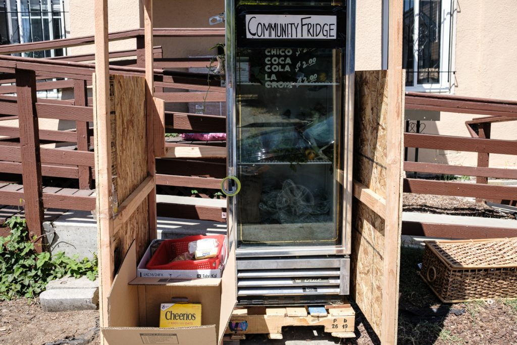 A Town Fridge community refrigerator in Oakland. Photo: Pete Rosos