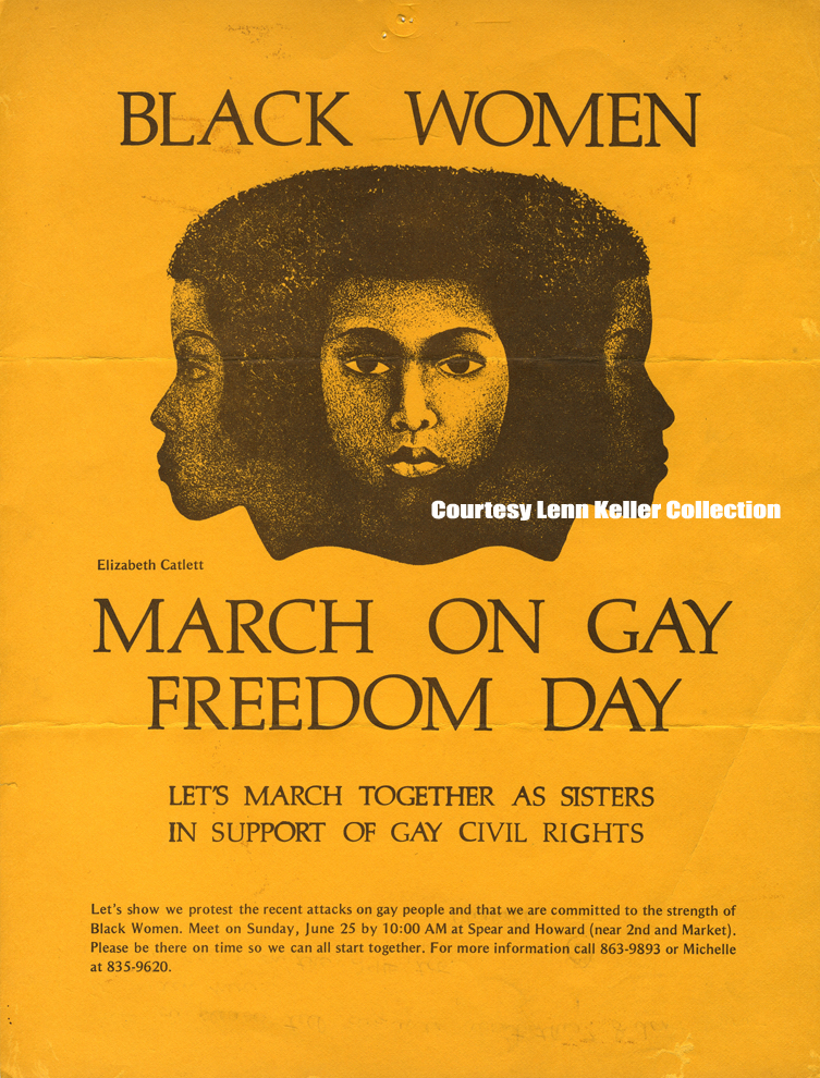 One of the many posters Keller saved in her personal collection, which later became part of the Bay Area Lesbian Archives.