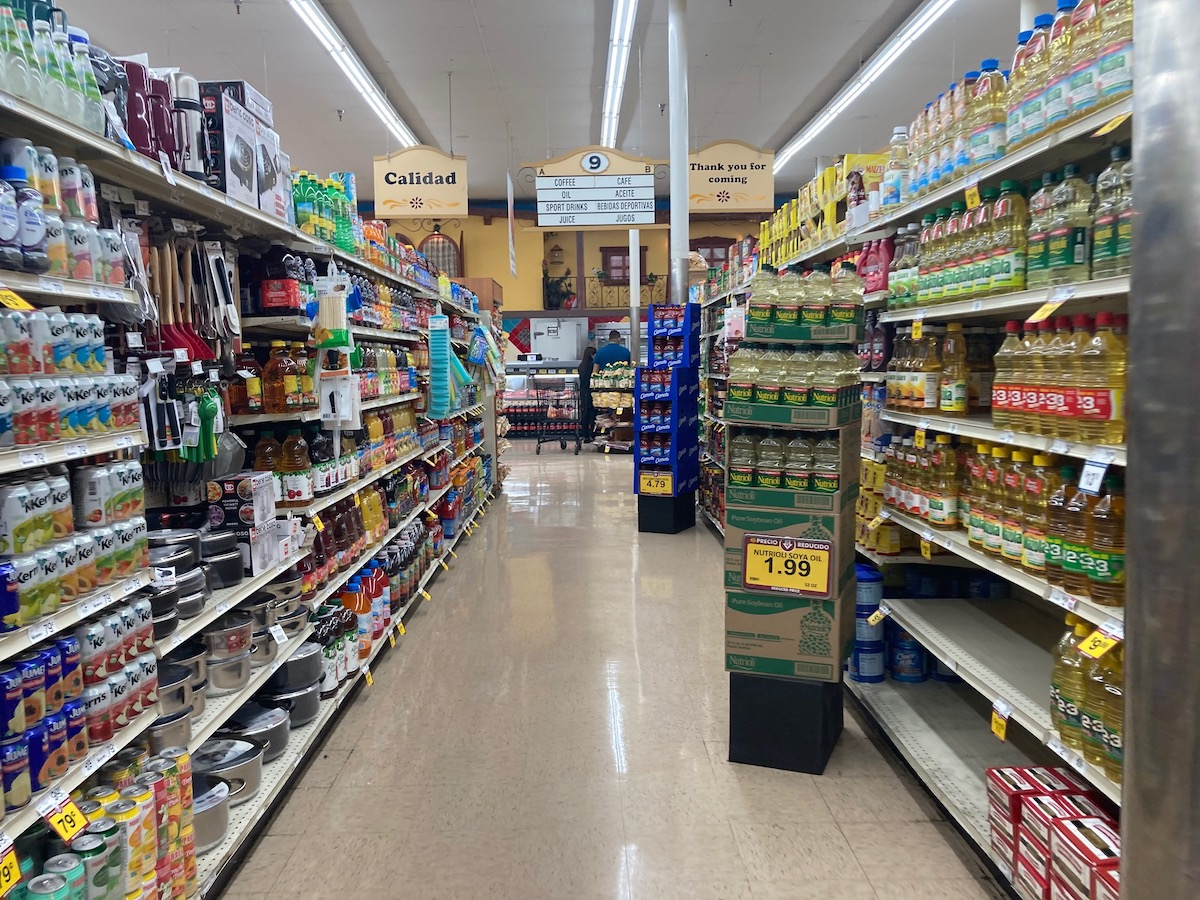 Grocery store employees work indoors in areas where it can be difficult to maintain social distancing. Photo: Darwin BondGraham